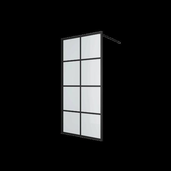 Excellent ścianka prysznicowa walk-in 100x200 czarna Fabrika KAEX.4006.1000.LP
