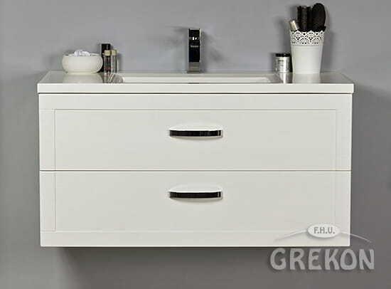 Grekon szafka z umywalką Meiva 101x46 biała MVA-B-U101/46/2 + MEWA-1010C