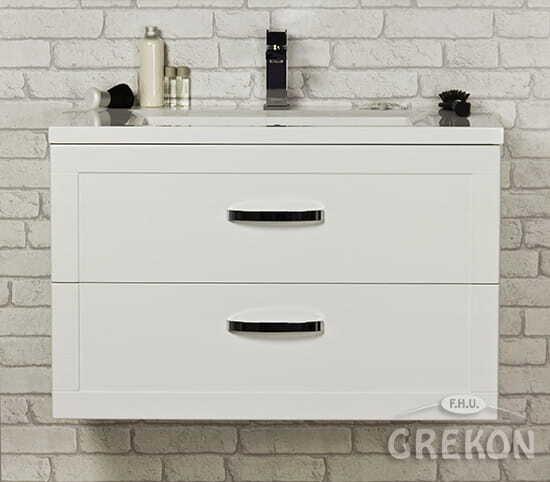 Grekon szafka z umywalką Meiva 81x46 biała MVA-B-U81/46/2 + MEWA-10C
