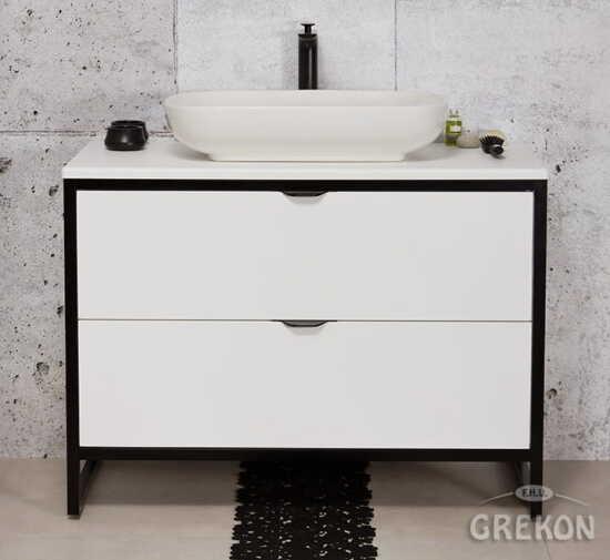 Grekon szafka New York z białą umywalką 100x52 biała NY-B-U100/50/2 + PREMIUM 60