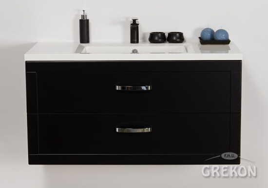Grekon szafka z umywalką Meiva 101x46 czarna MVA-C-U101/46/2 + MEWA-1010C