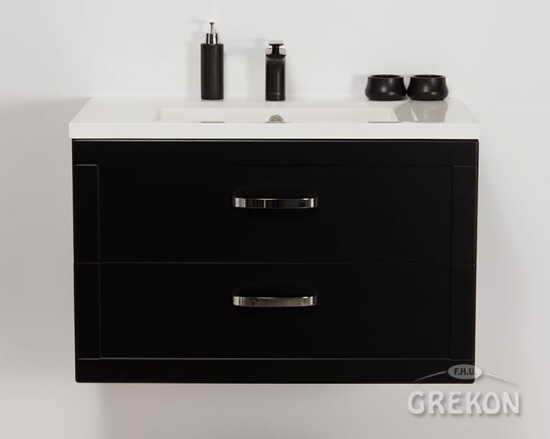 Grekon szafka z umywalką Meiva 81x46 czarna MVA-C-U81/46/2 + MEWA-10C