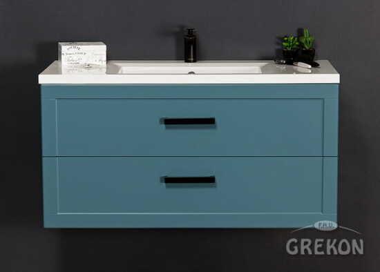 Grekon szafka z umywalką Meiva 101x46 niebieska MVA-N-U101/46/2 + MEWA-1010C
