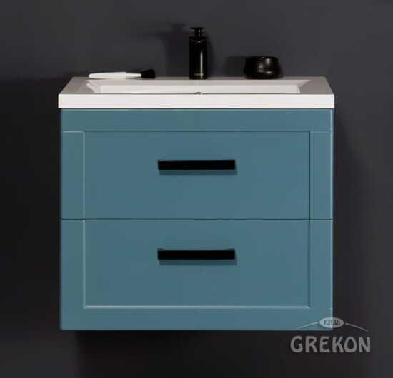 Grekon szafka z umywalką Meiva 61x46 niebieska MVA-N-U61/46/2 + MEWA-610C