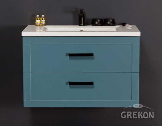 Grekon szafka z umywalką Meiva 81x46 niebieska MVA-N-U81/46/2 + MEWA-10C