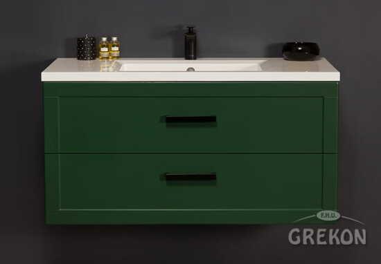 Grekon szafka z umywalką Meiva 101x46 zielona MVA-Z-U101/46/2 + MEWA-1010C