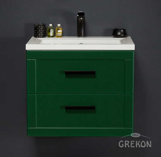 Grekon szafka z umywalką Meiva 61x46 zielona MVA-Z-U61/46/2 + MEWA-610C